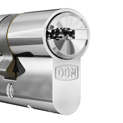 DOM cylindre Chromé brillant