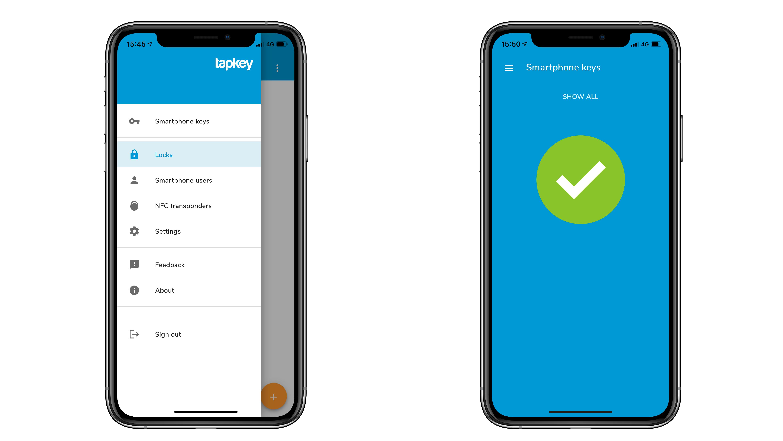 Tapkey App Téléphoner