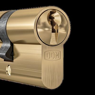 DOM Cilinder Satin Brass