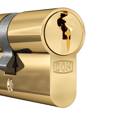 DOM Cilinder Polished Brass
