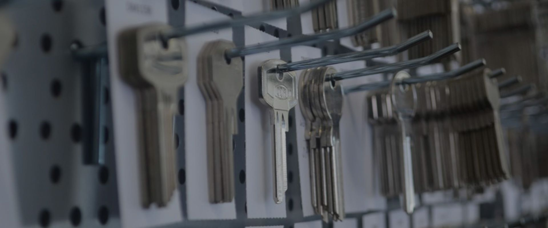 keys hanging on shop display
