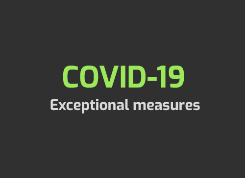 COVID19 - Exceptional measures