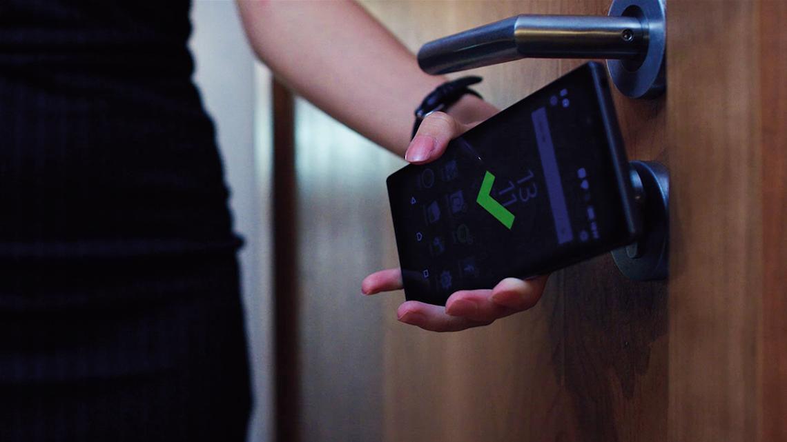 Ouverture de la porte avec un smartphone