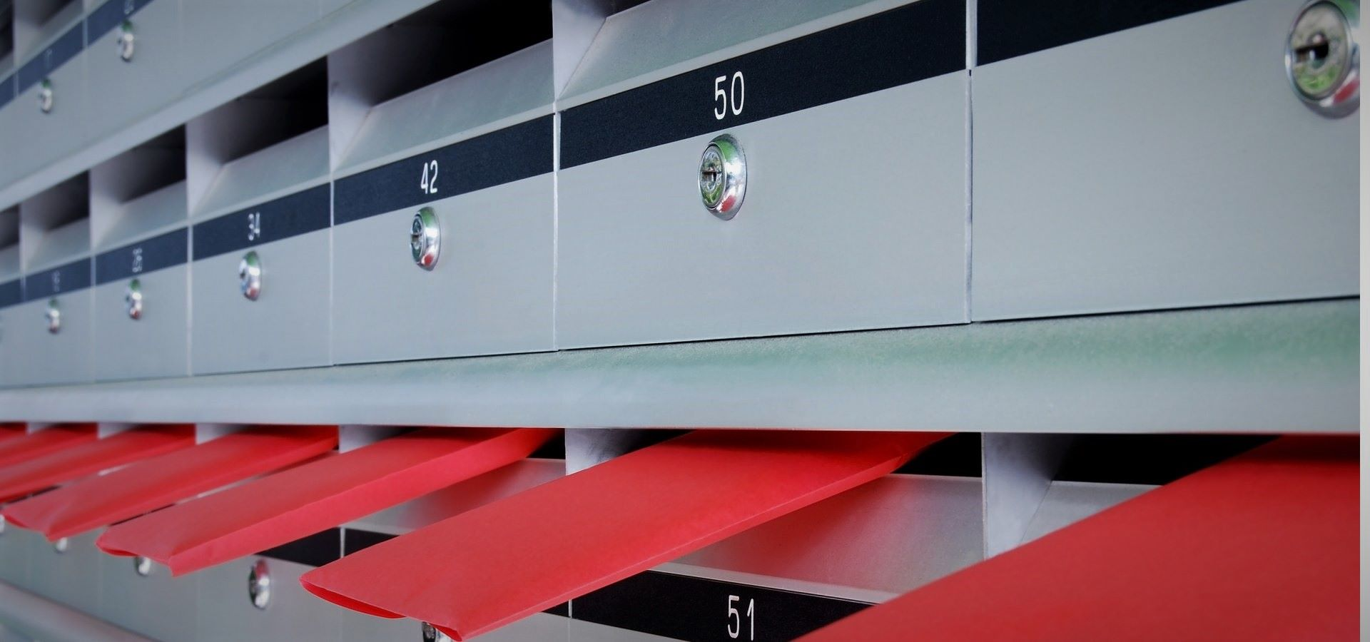 Letterboxes with envelopes