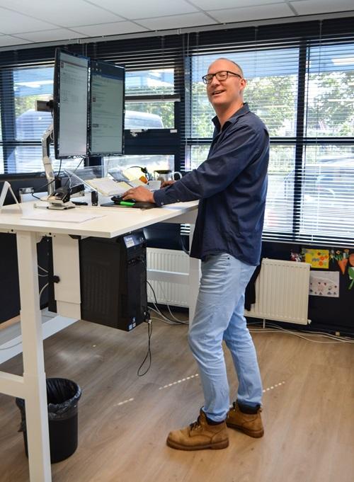 Man standing desk