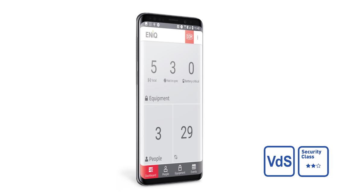 DOM ENiQ App Phone VDS Logo